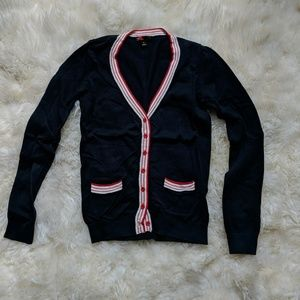 Blue button down cardigan